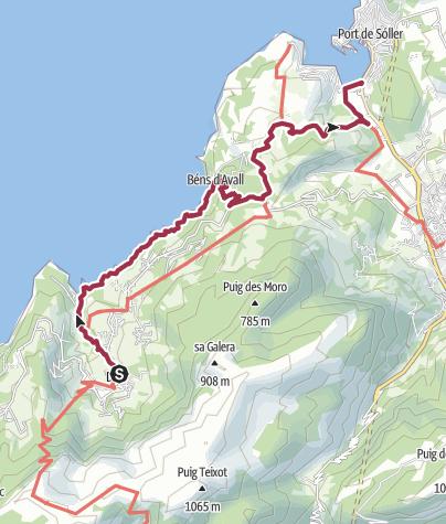Karte / Auf dem Küstenweg von Deià nach Port Sóller