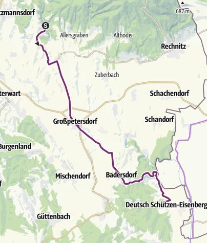 Karte / Riedl radelt 2021 Etappe 7
