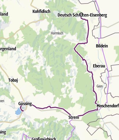 Karte / Riedl radelt 2021 Etappe 8 NEU