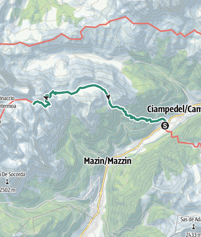 Map / Hike to Rifugio Antermoia from Fontanazzo
