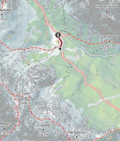 Map / Walk to the Rifugio Catinaccio