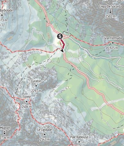 Karte / Wanderung zur Schutzhütte Catinaccio (Rosengarten)