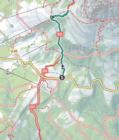 Karte / Wanderung zur Schutzhütte Paolina