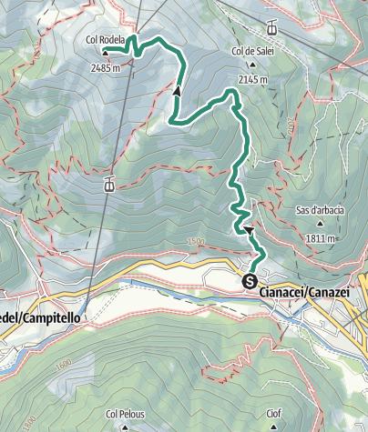 Cartina / Trekking al Rifugio Col Rodella
