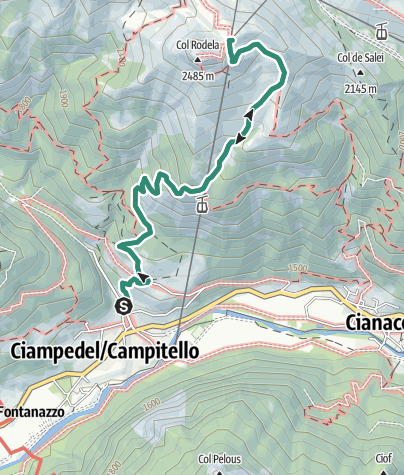 Map / Hike to Rifugio Des Alpes