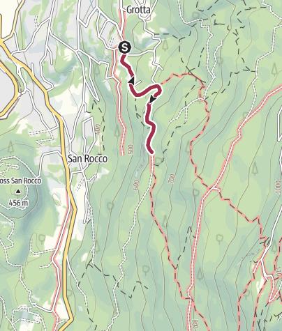 Map / Walk to the Rifugio Bindesi