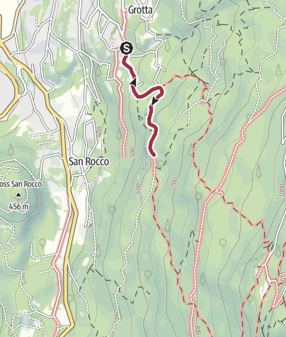 Map / Walk to the Rifugio Bindesi