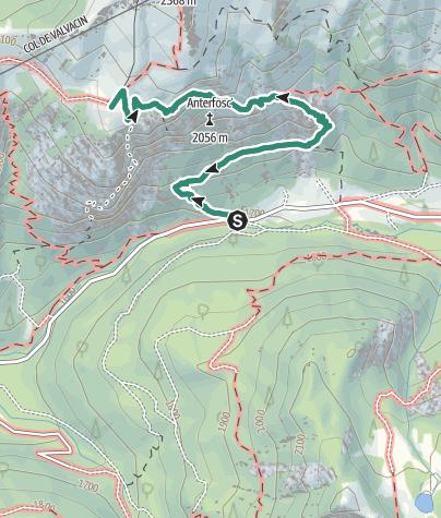 Map / Hike to Rifugio Baita Cuz