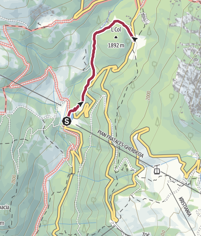 Map / Walk to the Rifugio Monti Pallidi