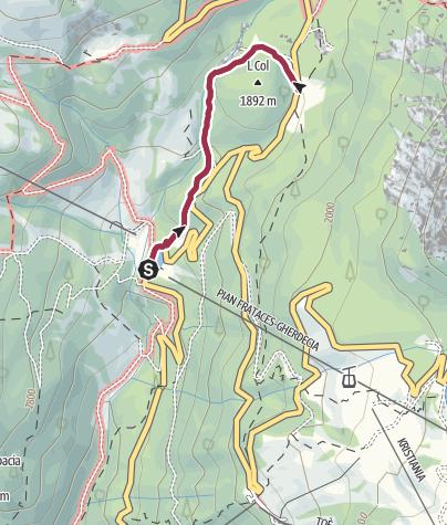 Karte / Wanderung zur Schutzhütte Monti Pallidi