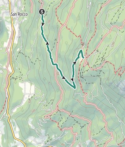 Karte / Wanderung zur Schutzhütte Maranza