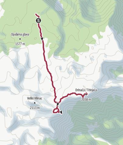 Map / Rewarding stargazing hike on Mt Cvrsnica