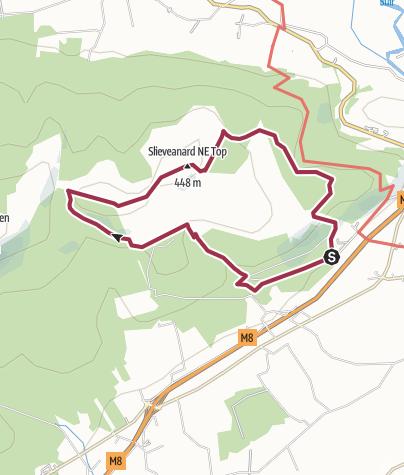 Map / B walk, Sunday, May 30, 13km