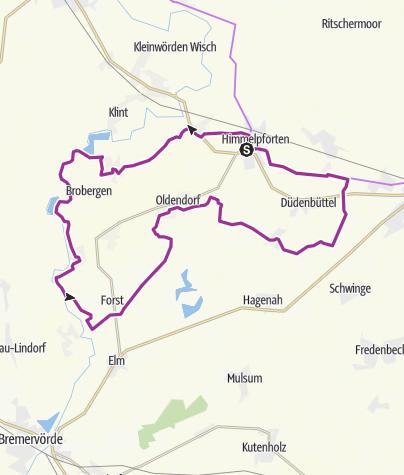 Karte / Niedersächsische Milchstrasse Rundtour 1 (von 4)