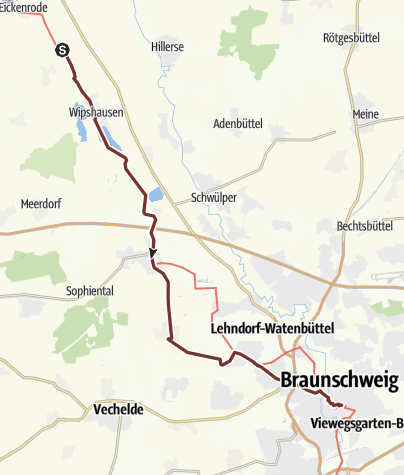 Karte / VIA ROMEA Eltze / Rietze - Braunschweig (13)