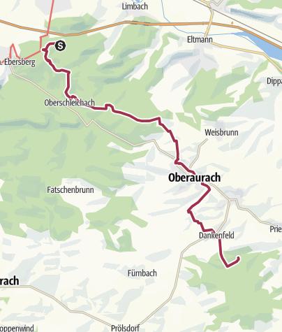 Karte / Tag 3 - Trekking zell nach Dankenfeld