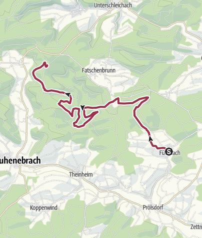 Karte / Tag 1 - Nach Steinkuck