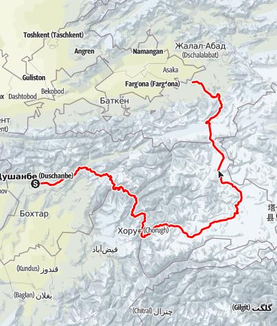 Karte / Pamir Highway