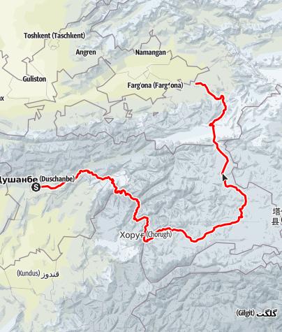 Map / Pamir Highway