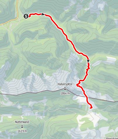 Karte / Auf die Gufferthütte von der Schwaigeralm