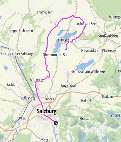 Karte / Ausfahrt A Salzburg-Berndorf-Buchberg