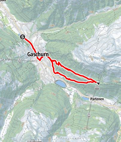 Karte / Tafamunt-Trail