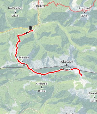 Karte / Von Wildbad Kreuth über die Geißalm zur Gufferthütte