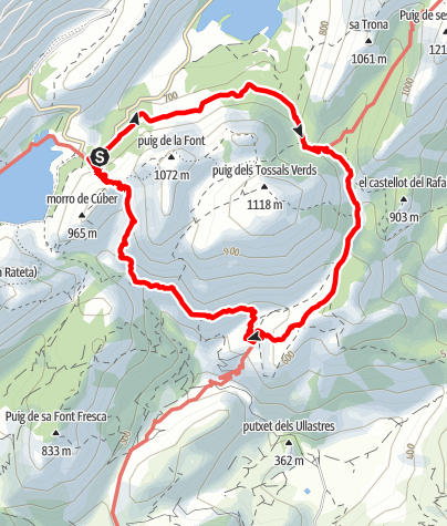 Karte / Rundweg um den Puig des Tossal Verds