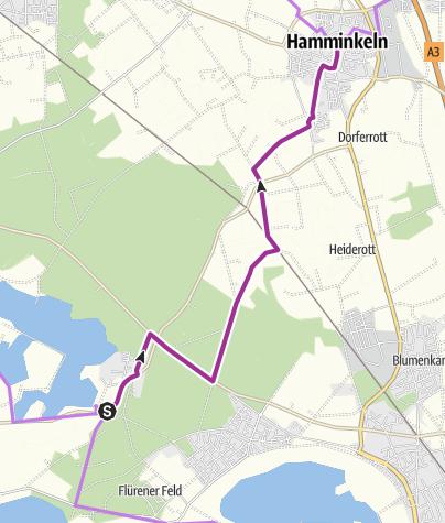 Karte / 3-Flüsse-Route - Nebenroute 1 (N1)