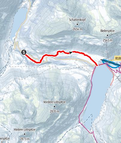 Karte / Variante 2: Großvermunt zum Silvrettasee