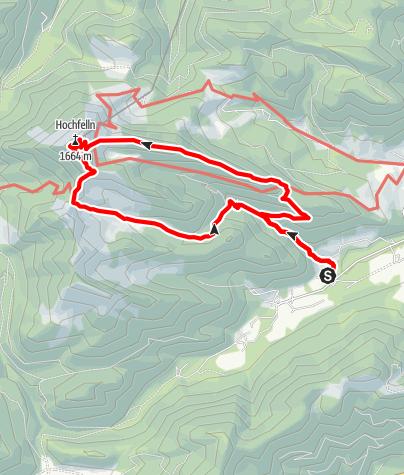 Karte / Hochfelln (1.671m). Rundwanderung auf der ruhigeren Ostseite