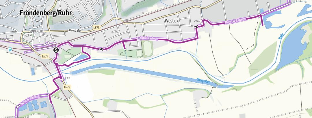 Karte / Mikroabenteuer: Von der Hönnemündung entlang der Ruhr in Fröndenberg