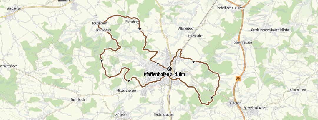 Karte / W1 PAF:bike!run!walk! Marathon