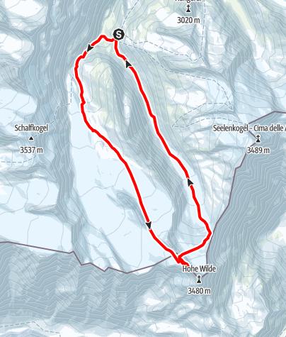 Karte / Hochwilde Nordgipfel von der Langtalereckhütte
