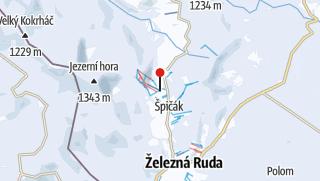 Karte / Lyžařský areál Špičák