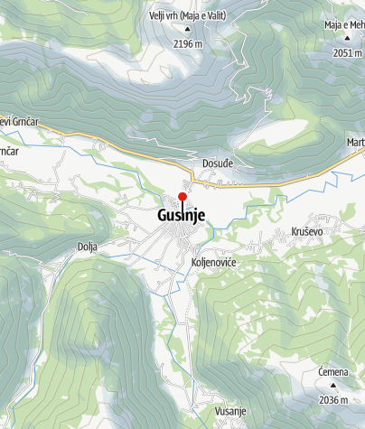 Map / Gusinjska Kula