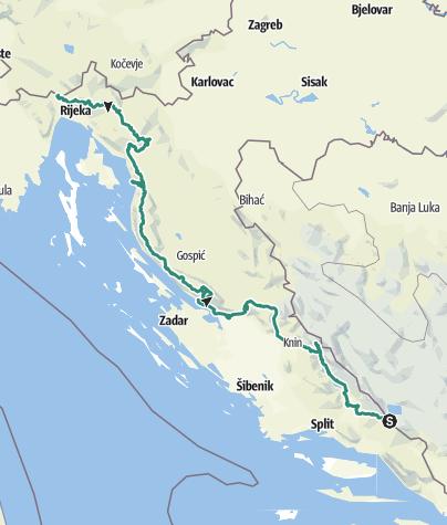 Map / Incredible Croatian Karst - Via Dinarica White Trail