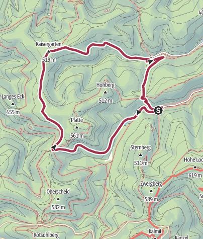 Karte / Rundwanderweg Kaltenbrunnertal