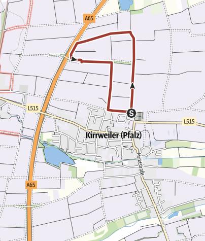 Karte / Kirrweiler - Biblischer Weinpfad