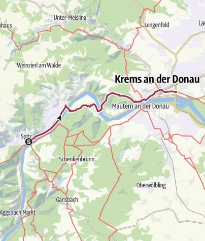 Karte / Tag 13 | 8.7.21 - 100 Jahr Wanderung: Spitz - Krems