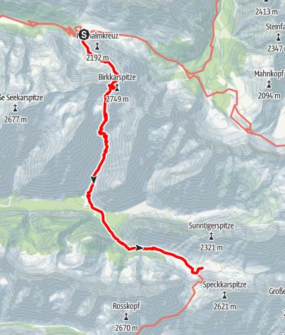 Map / Adlerweg - Etappe 11: Karwendelhaus - Hallerangerhaus