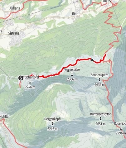 Map / Adlerweg - Etappe 13: Innsbruck - Zirbenweg - Innsbruck