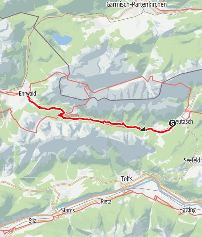 Map / Adlerweg - Etappe 16: Leutasch - Ehrwald