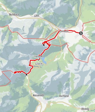 Map / Adlerweg - Etappe 17: Ehrwald - Lorea Hütte