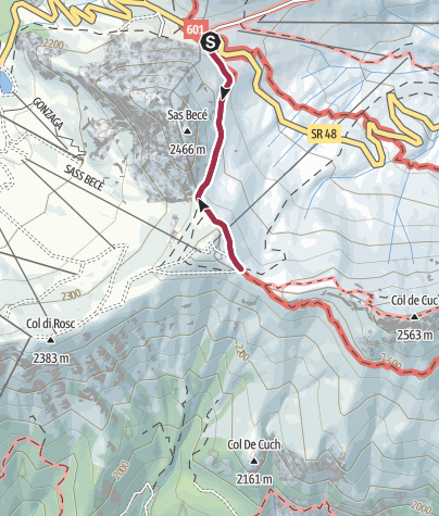 Map / Walk to the Rifugio Fredarola