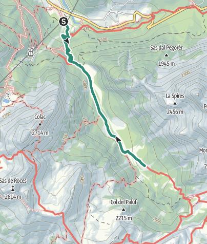 Map / Hike to Rifugio Malga Cianci
