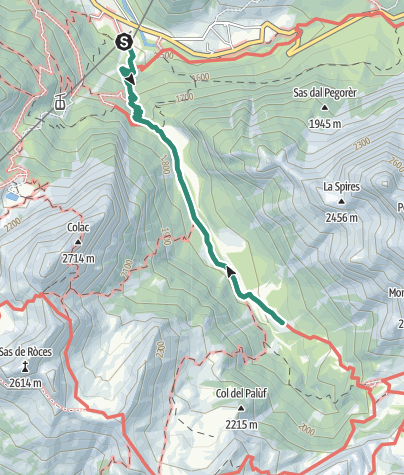 Map / Hike to Rifugio Malga Cianci