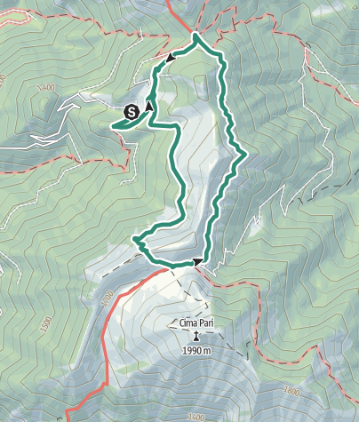 Map / Bocca Saval Ring Route, Rifugio Pernici