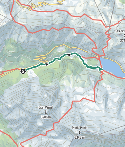 Map / Hike to Rifugio Dolomia