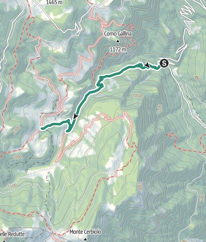 Map / Hike to Rifugio Monte Baldo